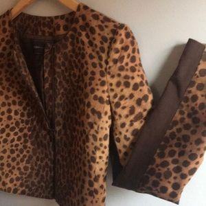 BCBG Leopard Print Jacket